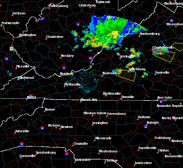 Radar Image for Severe Thunderstorms near Timberlake, VA at 7/22/2017 10:56 PM EDT