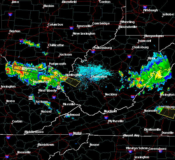 Radar Image for Severe Thunderstorms near Huntington, WV at 7/22/2017 11:04 PM EDT