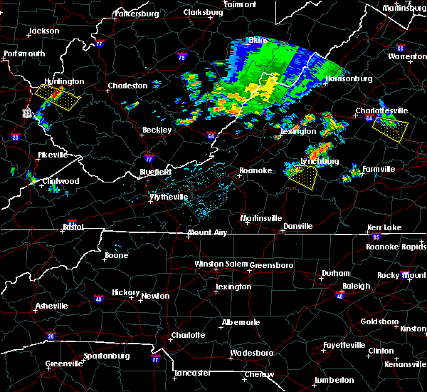 Radar Image for Severe Thunderstorms near Timberlake, VA at 7/22/2017 11:17 PM EDT