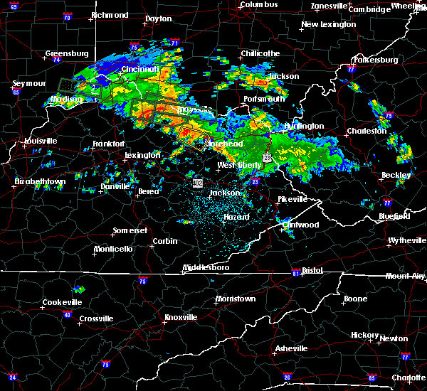 Radar Image for Severe Thunderstorms near Morehead, KY at 7/23/2017 12:39 AM EDT