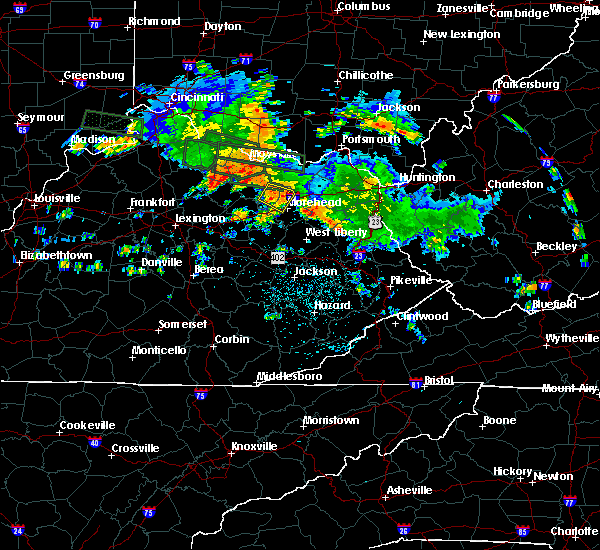 Radar Image for Severe Thunderstorms near Morehead, KY at 7/23/2017 12:58 AM EDT