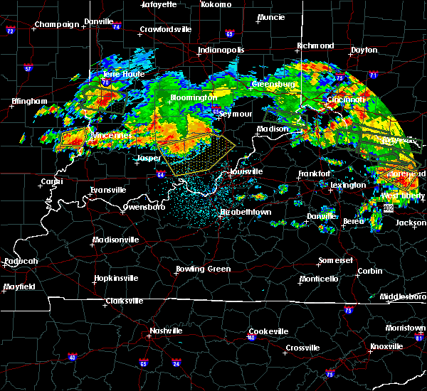 Radar Image for Severe Thunderstorms near Henryville, IN at 7/23/2017 1:47 AM EDT