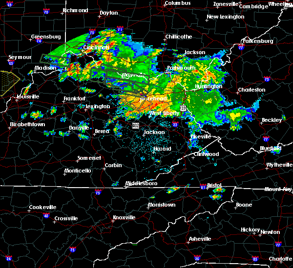 Radar Image for Severe Thunderstorms near Morehead, KY at 7/23/2017 1:47 AM EDT