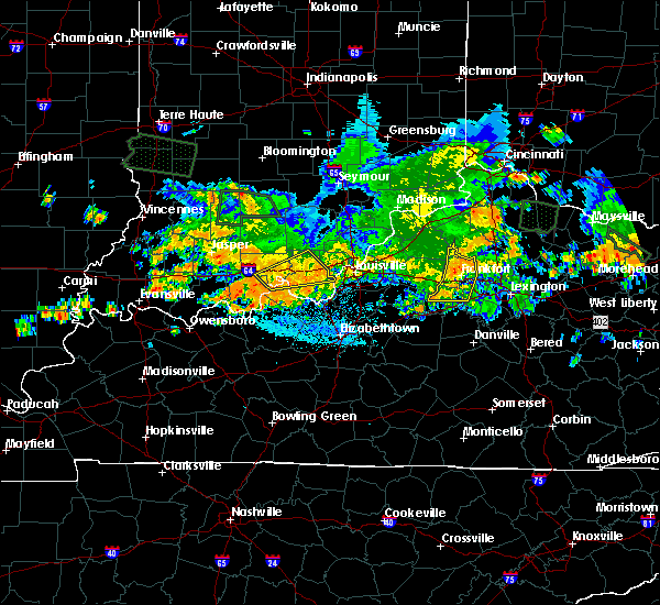 Radar Image for Severe Thunderstorms near Frankfort, KY at 7/23/2017 3:46 AM EDT