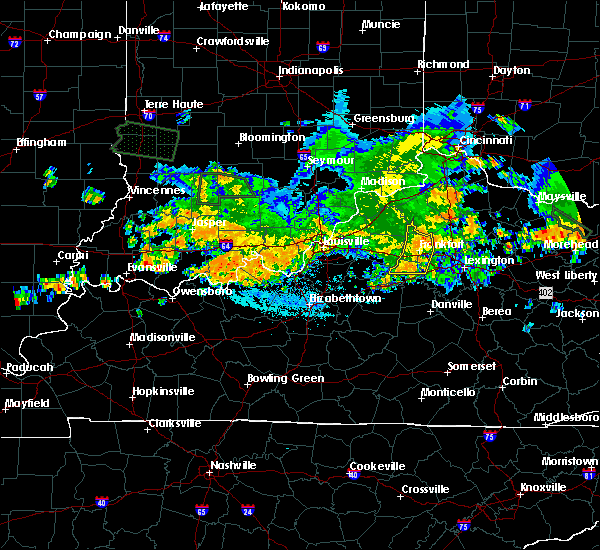 Radar Image for Severe Thunderstorms near Frankfort, KY at 7/23/2017 3:55 AM EDT