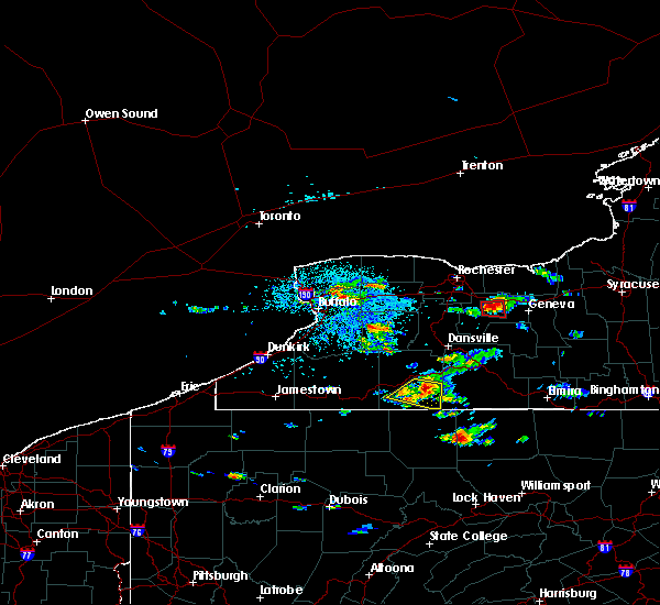 Radar Image for Severe Thunderstorms near Shortsville, NY at 7/23/2017 3:05 PM EDT
