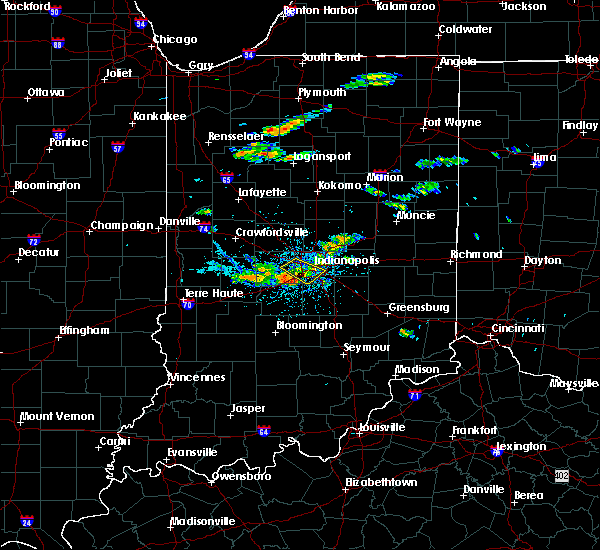 Radar Image for Severe Thunderstorms near Indianapolis, IN at 7/23/2017 3:30 PM EDT