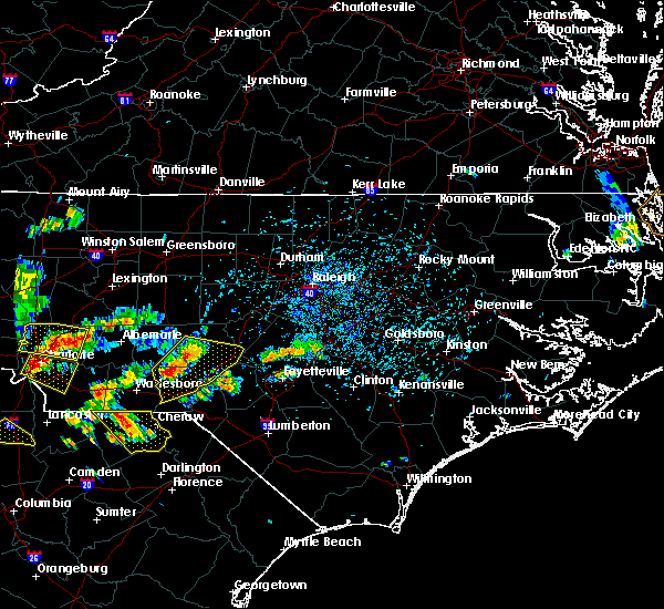 Radar Image for Severe Thunderstorms near Pinehurst, NC at 7/23/2017 3:48 PM EDT