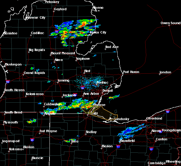 Radar Image for Severe Thunderstorms near Toledo, OH at 7/23/2017 3:54 PM EDT