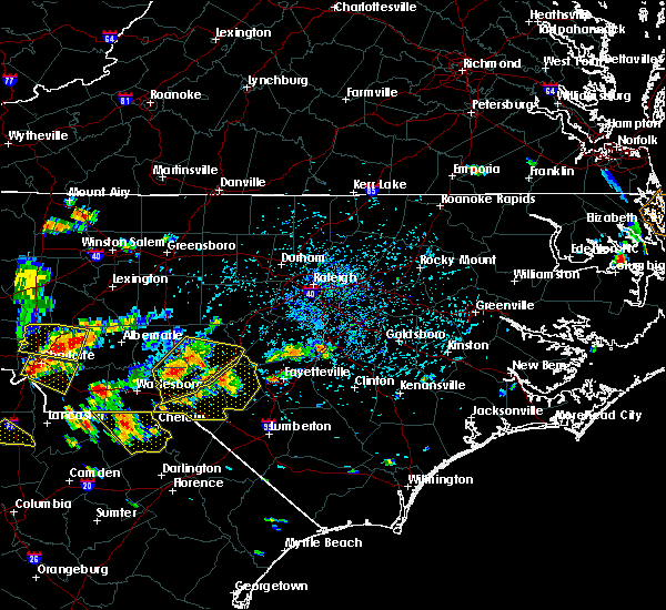 Radar Image for Severe Thunderstorms near Fayetteville, NC at 7/23/2017 4:00 PM EDT