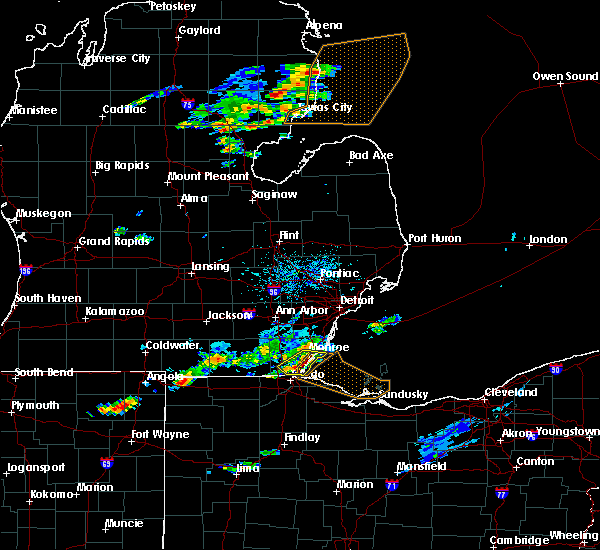 Radar Image for Severe Thunderstorms near Toledo, OH at 7/23/2017 4:13 PM EDT