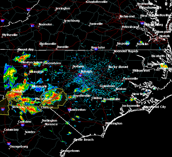 Radar Image for Severe Thunderstorms near Fayetteville, NC at 7/23/2017 4:25 PM EDT