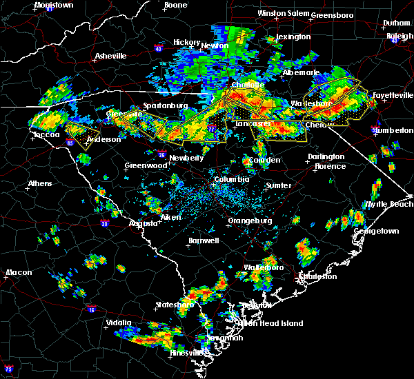 Radar Image for Severe Thunderstorms near Patrick, SC at 7/23/2017 4:34 PM EDT