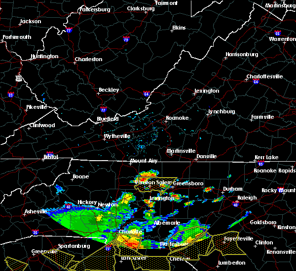 Radar Image for Severe Thunderstorms near High Point, NC at 7/23/2017 4:41 PM EDT