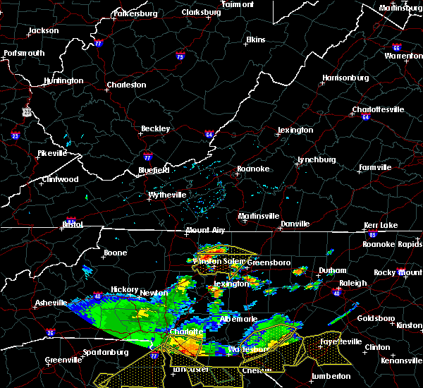 Radar Image for Severe Thunderstorms near Tobaccoville, NC at 7/23/2017 4:46 PM EDT