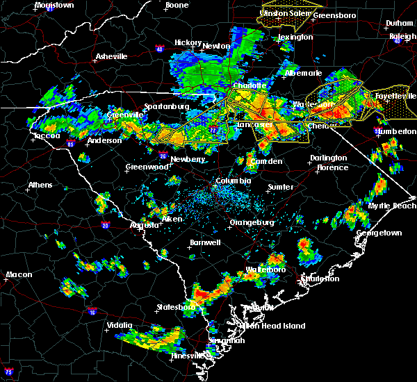 Radar Image for Severe Thunderstorms near Marvin, NC at 7/23/2017 4:54 PM EDT
