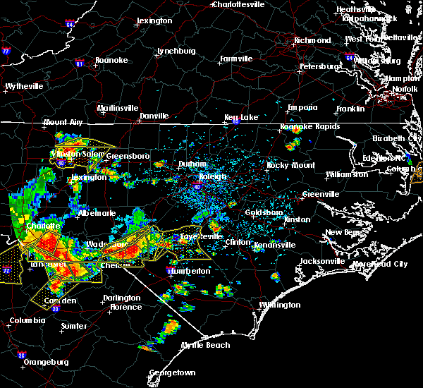 Radar Image for Severe Thunderstorms near Pinehurst, NC at 7/23/2017 4:54 PM EDT