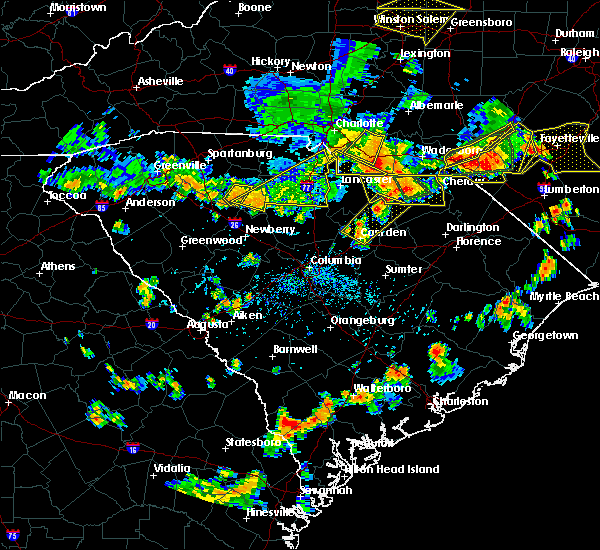 Radar Image for Severe Thunderstorms near JAARS, NC at 7/23/2017 4:54 PM EDT