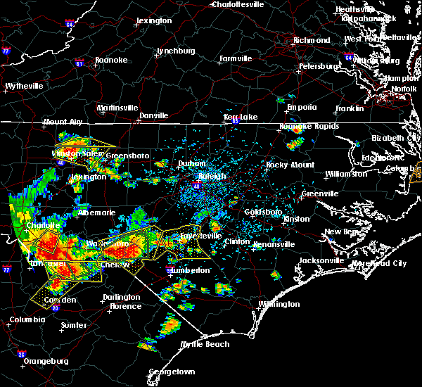 Radar Image for Severe Thunderstorms near Raeford, NC at 7/23/2017 5:02 PM EDT