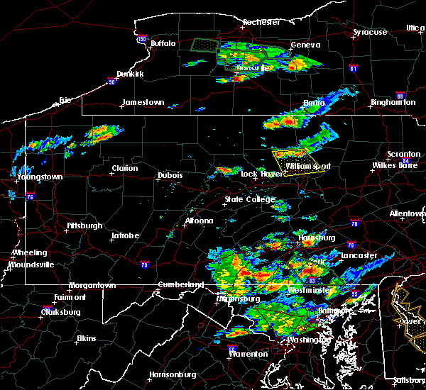 Radar Image for Severe Thunderstorms near Williamsport, PA at 7/23/2017 5:11 PM EDT