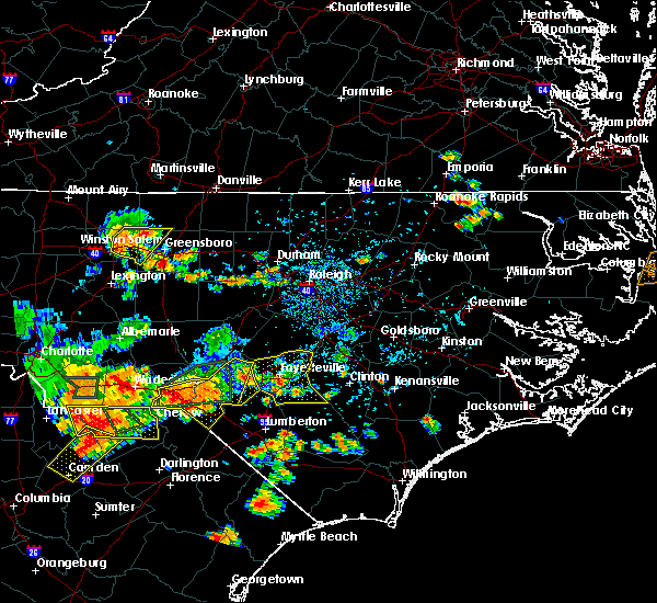 Radar Image for Severe Thunderstorms near Raeford, NC at 7/23/2017 5:18 PM EDT