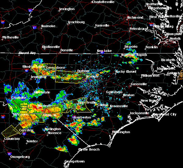 Radar Image for Severe Thunderstorms near Durham, NC at 7/23/2017 5:31 PM EDT