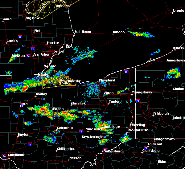 Radar Image for Severe Thunderstorms near Port Clinton, OH at 7/23/2017 5:47 PM EDT
