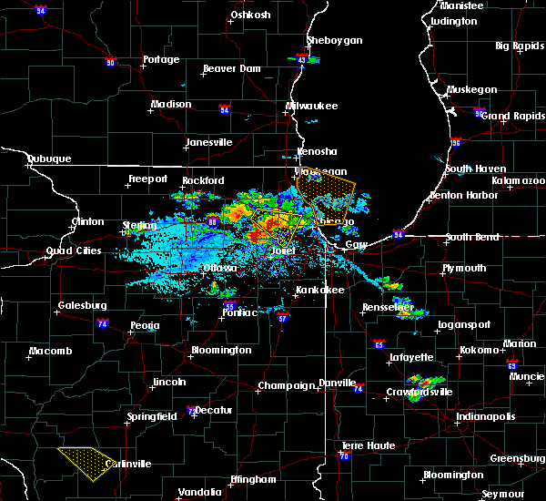 Radar Image for Severe Thunderstorms near Northlake, IL at 7/23/2017 4:53 PM CDT