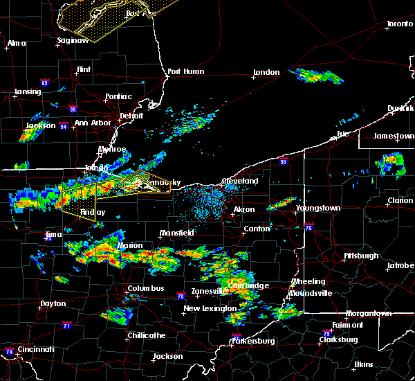 Radar Image for Severe Thunderstorms near Custar, OH at 7/23/2017 5:53 PM EDT
