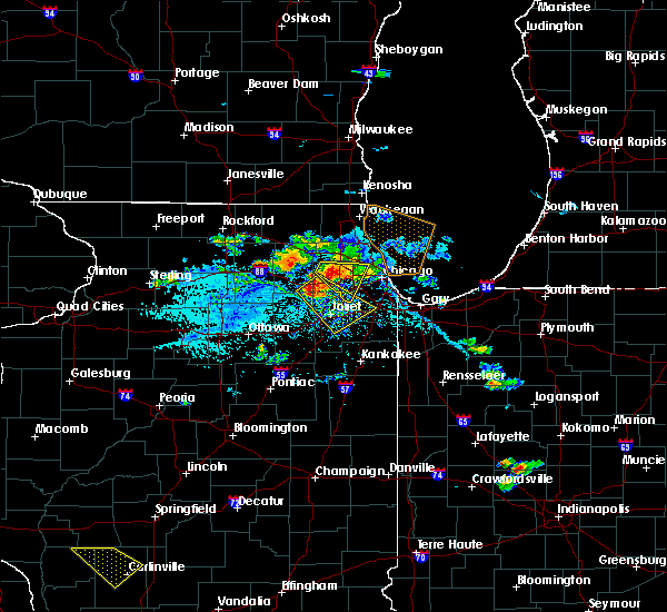 Radar Image for Severe Thunderstorms near Lockport, IL at 7/23/2017 4:56 PM CDT