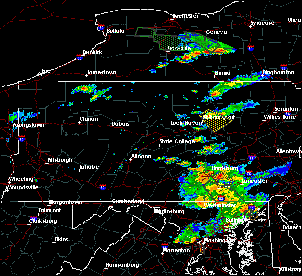 Radar Image for Severe Thunderstorms near Muncy, PA at 7/23/2017 6:06 PM EDT