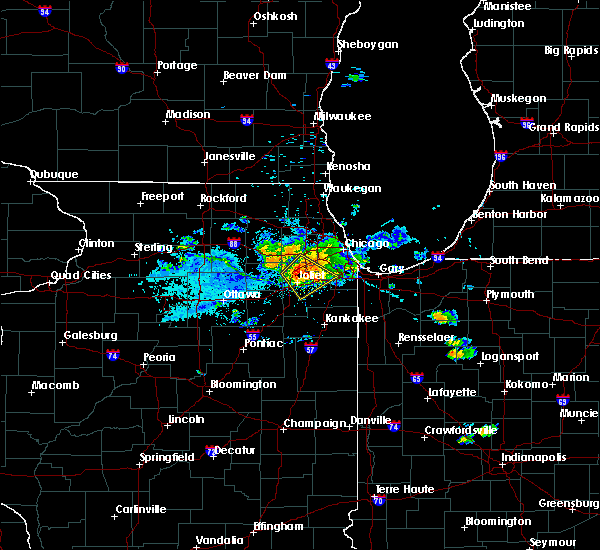 Radar Image for Severe Thunderstorms near Lockport, IL at 7/23/2017 5:24 PM CDT
