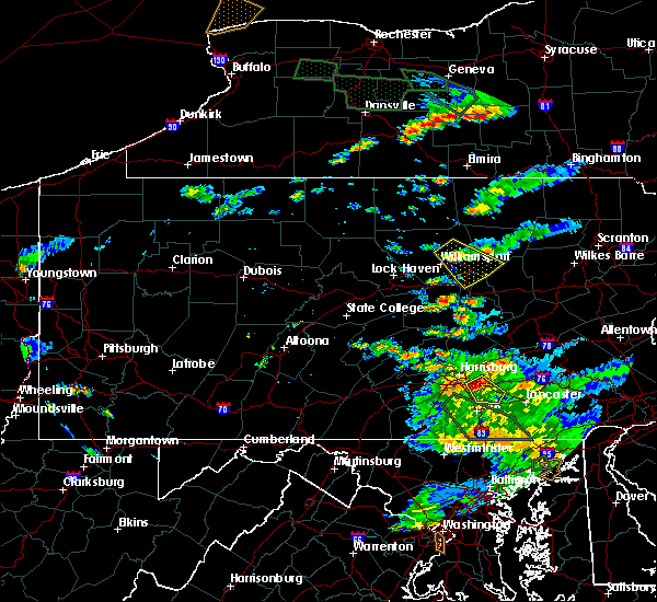 Radar Image for Severe Thunderstorms near Muncy, PA at 7/23/2017 6:25 PM EDT