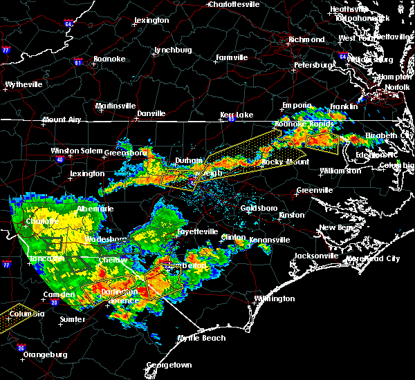 Radar Image for Severe Thunderstorms near Hollister, NC at 7/23/2017 6:41 PM EDT