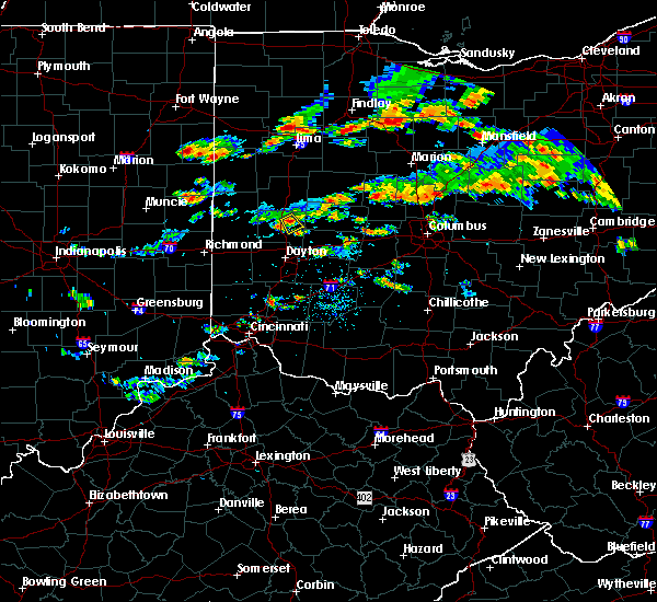 Radar Image for Severe Thunderstorms near Fletcher, OH at 7/23/2017 6:57 PM EDT