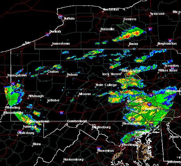 Radar Image for Severe Thunderstorms near Iola, PA at 7/23/2017 7:03 PM EDT