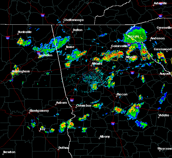 Radar Image For Severe Thunderstorms Near Winder GA At 7 23 2017