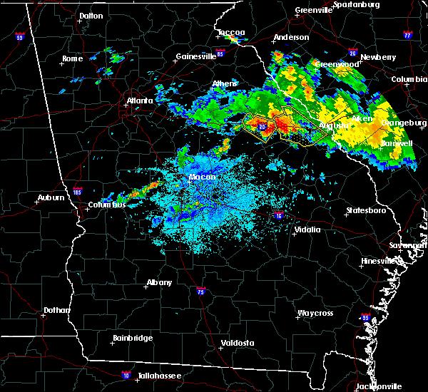 Radar Image for Severe Thunderstorms near Warrenton, GA at 7/23/2017 10:01 PM EDT