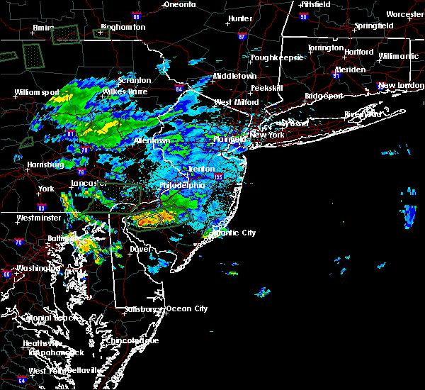 Radar Image for Severe Thunderstorms near Clayton, NJ at 7/23/2017 10:26 PM EDT