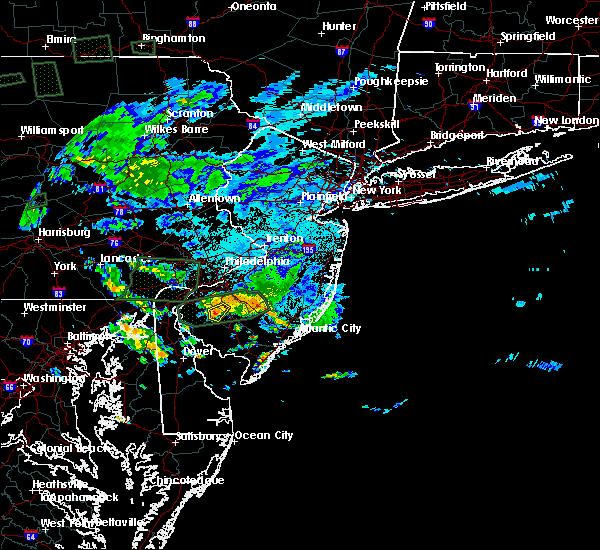 Radar Image for Severe Thunderstorms near Clayton, NJ at 7/23/2017 10:52 PM EDT
