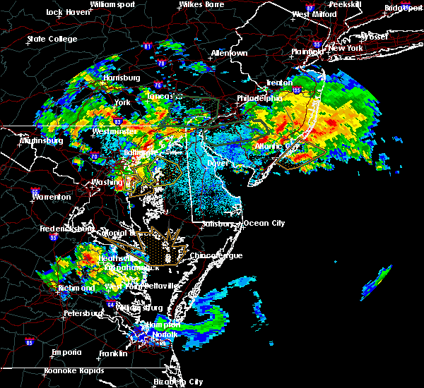 Radar Image for Severe Thunderstorms near Chestertown, MD at 7/24/2017 1:08 AM EDT
