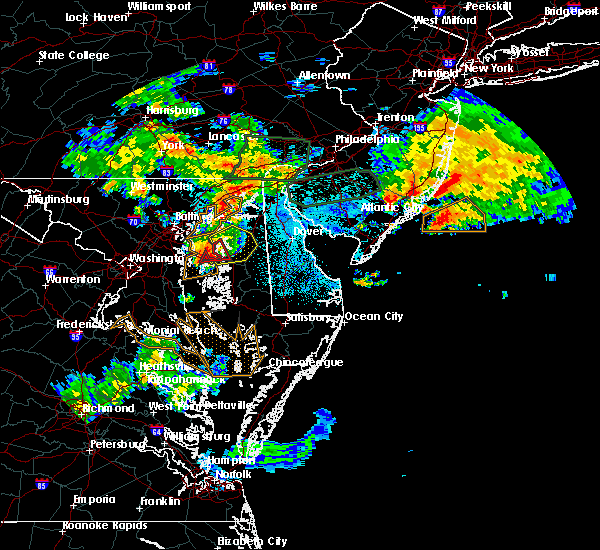 Radar Image for Severe Thunderstorms near Kingstown, MD at 7/24/2017 1:36 AM EDT