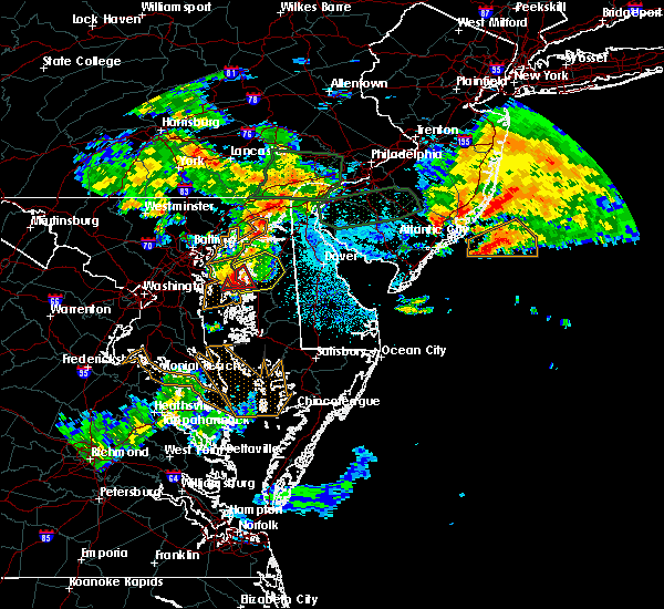 Radar Image for Severe Thunderstorms near Kingstown, MD at 7/24/2017 1:42 AM EDT