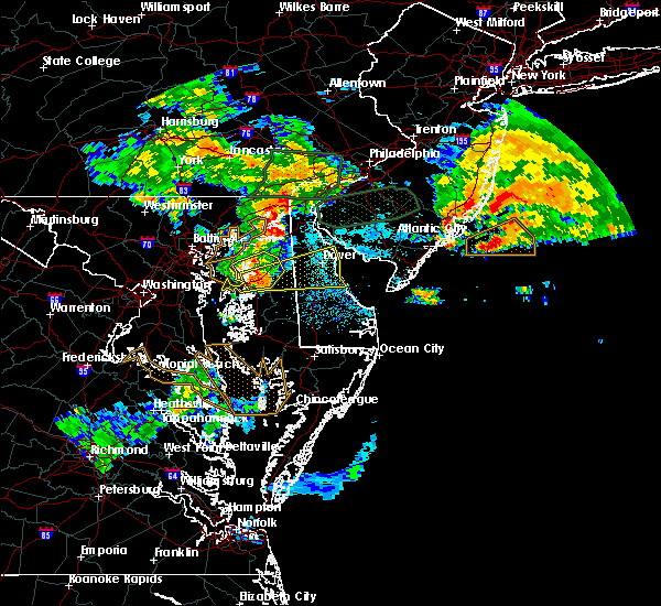 Radar Image for Severe Thunderstorms near Dover, DE at 7/24/2017 1:57 AM EDT