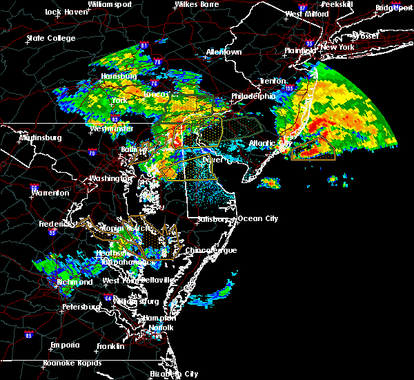 Radar Image for Severe Thunderstorms near Dover, DE at 7/24/2017 2:09 AM EDT