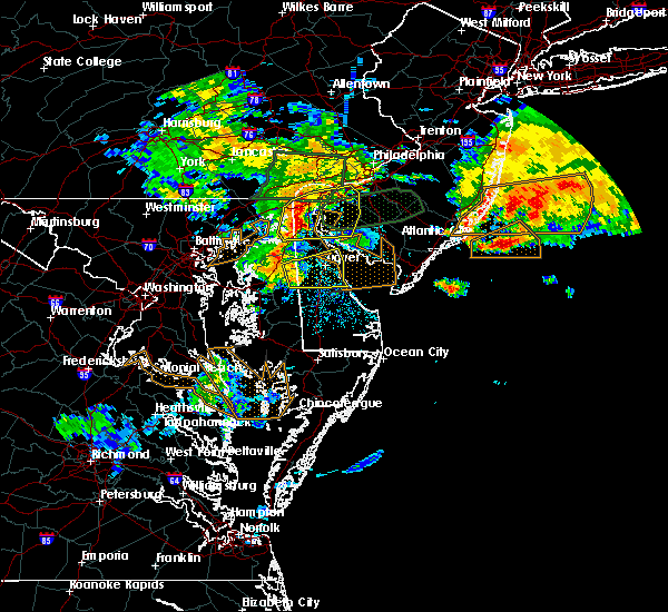 Radar Image for Severe Thunderstorms near Dover, DE at 7/24/2017 2:21 AM EDT