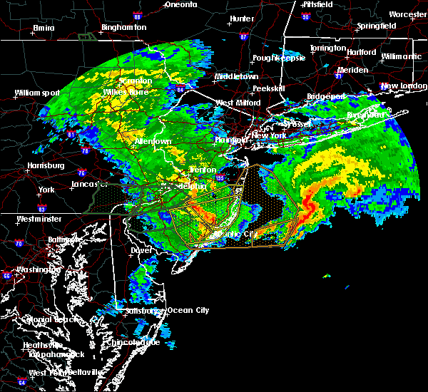 Radar Image for Severe Thunderstorms near Browns Mills, NJ at 7/24/2017 3:58 AM EDT