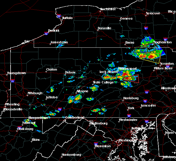 Radar Image for Severe Thunderstorms near Almedia, PA at 7/24/2017 3:32 PM EDT