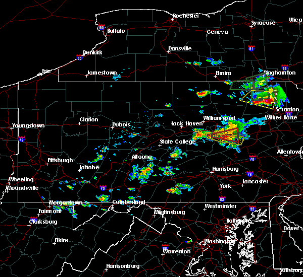 Radar Image for Severe Thunderstorms near Danville, PA at 7/24/2017 4:03 PM EDT