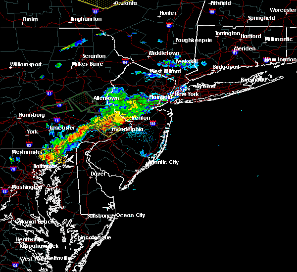 Radar Image for Severe Thunderstorms near Jenkintown, PA at 7/24/2017 8:02 PM EDT